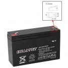 Exell 6V 12Ah SLA Battery Rechargeable AGM replaces UB6120, D5778