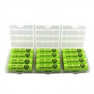 Interlocking Battery Storage Boxes with 12 AA Evergreen Batteries