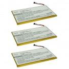 3pc eBook Battery EBBK-PDA317LI for Barnes & Noble Nook Color, Tablet