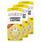 Hearing Aid Battery L10ZA-8ZM/24 Rayovac 24pk, Size 10, Mercury-Free