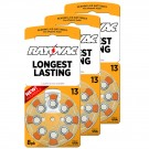 Hearing Aid Battery L13ZA-8ZM/24 Rayovac 24pk, Size 13, Mercury Free
