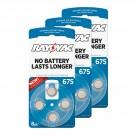 Hearing Aid Battery L675ZA-8ZM/24 Rayovac 24pk, Size 675, Mercury-Free
