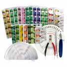 155pc Maxell Watch Battery Kit, Assorted Batteries w/ 5 Free Tools