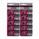 10pc Maxell 3V Lithium Coin Cell Battery CR1220 Replaces DL1220
