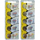 10pc Maxell 3V Lithium Coin Cell Battery CR1620 Replaces DL1620