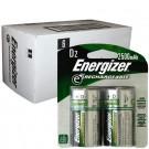 Energizer e2 D Rechargeable Batteries 2500mAh Ni-MH 1.2V 12pk