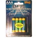 Empire NoMEM AAA Rechargeable Batteries 1000mAh 1.2V Ni-MH 4pk