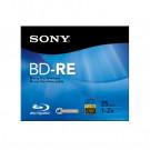 Sony 25GB Rewritable BD-RE Blu-ray Disc 2X Write Speed